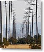 Power Poles  Metal Print