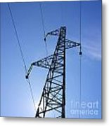 Power Pylon Metal Print by Bernard Jaubert