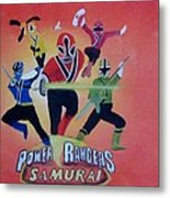 Power Rangers Samurai Metal Print
