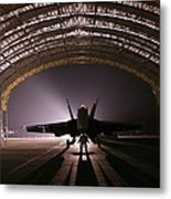 Power Rests At Night Metal Print