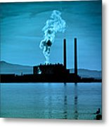 Power Station Silhouette Metal Print by Craig B