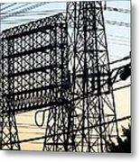 Power Tower Lines Metal Print