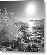 Powerful Wave At Dawn Metal Print