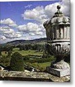 Powis Castle Garden Urn Metal Print