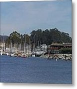 pr 204- Santa Cruz Harbor pano Metal Print