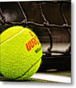 Practice - Tennis Ball By William Patrick And Sharon Cummings Metal Print