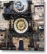 Prague Astronomical Clock Metal Print