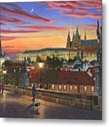 Prague At Dusk Metal Print