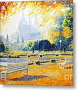 Prague Autumn In The Kralovska Zahrada Metal Print by Yuriy Shevchuk