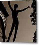 Prague Castle Statue Metal Print