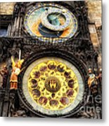 Prague Clock Orloj Metal Print
