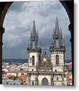 Prague From Town Hall Tower Metal Print