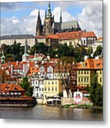Prague Skyline Metal Print