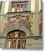 Prague - Mucha Mural Metal Print