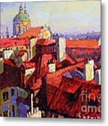 Prague Old Roofs 04 Metal Print