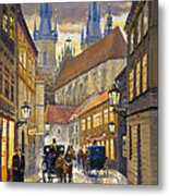 Prague Old Street Stupartska Metal Print