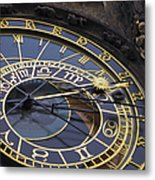 Prague Orloj Metal Print