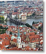 Prague - View From Castle Tower - 10 Metal Print