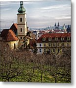 Prague View From The Gardens Metal Print