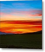 Prairie Fire Sunset Metal Print