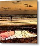 Prasonisi - A Day Of Windsurfing Is Over Metal Print