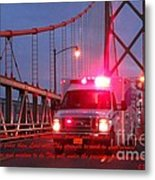 Prayer For Emergency Health Care First Responders Metal Print