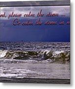 Prayer In Storm Metal Print
