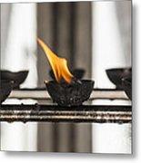 Prayer Lamps Metal Print