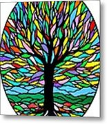 Prayer Tree Metal Print