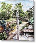 Prayer Wheel At Pacifica's Lambert Campus- Postcard Metal Print