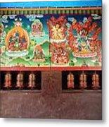 Prayer Wheels And Paintings Metal Print