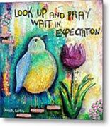 Praying And Waiting Bird Metal Print