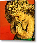 Praying Angel Metal Print by Susanne Van Hulst