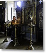 Praying At The Convent - Moscow - Russia Metal Print by Madeline Ellis