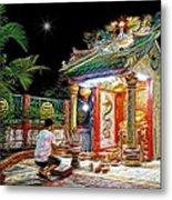 Praying At The Shrine. Metal Print
