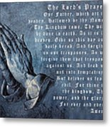 Praying Hands Lords Prayer Metal Print by Albrecht Durer