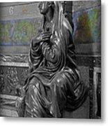 Praying Statue In Chantilly Metal Print