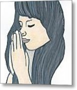 Praying Woman  Metal Print