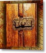 Pre-civil War Bookcase-glass Doors Latch Metal Print
