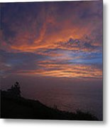 Pre Dawn Lighthouse Sentinal Metal Print