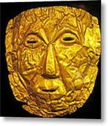 Pre-inca Gold Mask Metal Print