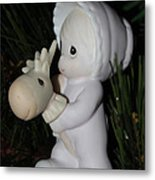 Precious Moments Baby Christmas Ornament Metal Print