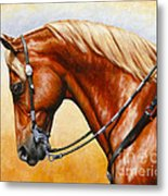 Precision - Horse Painting Metal Print by Crista Forest