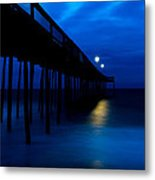 Predawn Blue Beneath Pier Metal Print