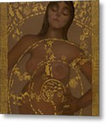 Pregnant Mother Goddess Metal Print by Diana Perfect