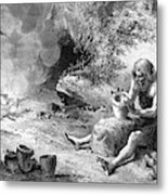 Prehistoric Potter Metal Print