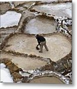 Preincan Salt Mines In Maras Peru Metal Print