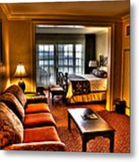 Premier Balcony Suite At The Sagamore Resort  Metal Print