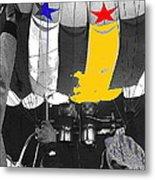 Preparing To Launch A Hot Air Balloon Dawn Albuquerque New Mexico 1973-2014 Metal Print