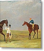 Preparing To Start For The Doncaster Gold Cup 1825 Metal Print